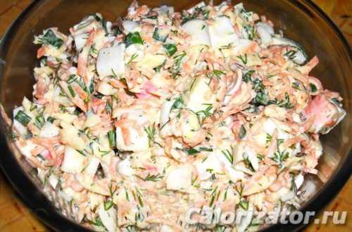 Рецепты салата с крабовыми палочками и корейской