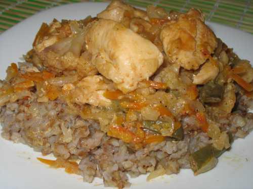 Рецепты рагу из курицы, с овощами и крупами,