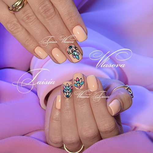 Какие узоры будут смотреться в тему на таких ногтях