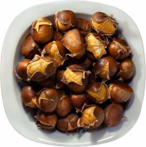 Употребление каштана в еду, если это возможно с конкретным видом, расширяет сосуды и укрепляет их стенки