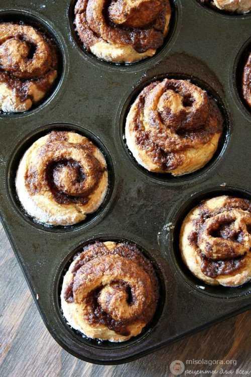 Рецепт булочек без дрожжей