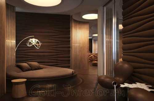 Для небольшого зала лучше всего выбрать комбинацию венге со светлыми оттенками