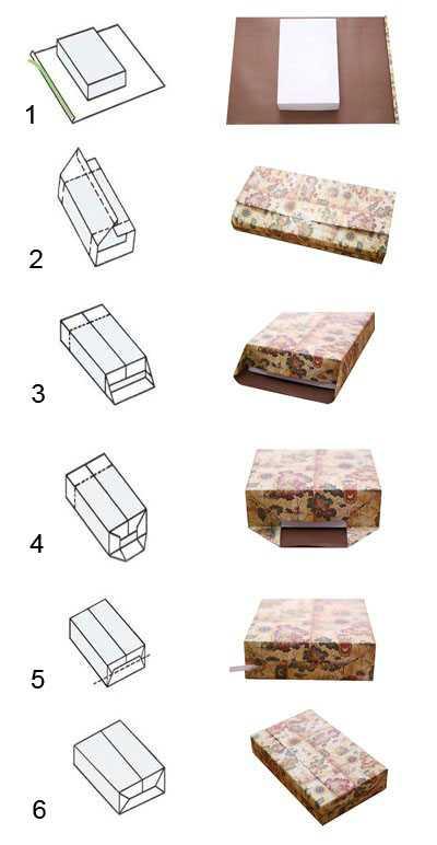 Букетиком цветов можно оформить картонную или деревянную коробку