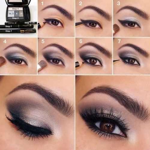 15 вариантов новогоднего макияжа для карих глаз фото