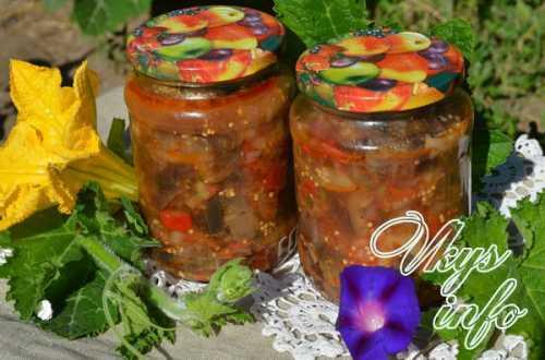 Узнай рецепт баклажанов с помидорами на зиму,