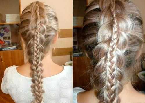 Причёски на средние волосы своими руками фото: